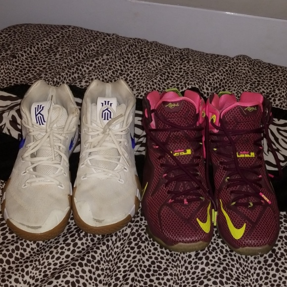 separation shoes 6bfbf ce14f Double Helix LeBron 12s and Kyri 4 Uncle drew